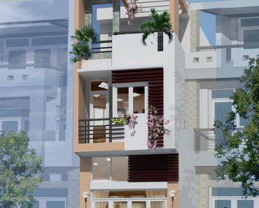 Phối cảnh nhà phố 3 tầng 5x15m