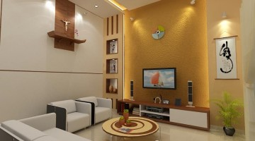 Thiết kế cải tạo nội thất phòng khách nhà phố 7x10m
