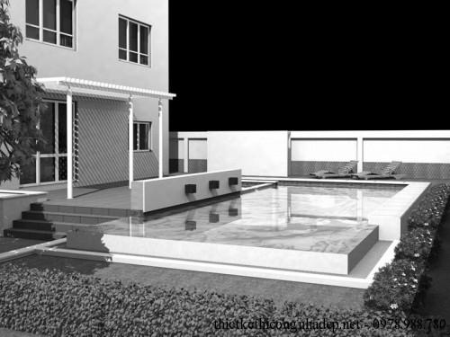 Bể bơi góc nhìn 1
