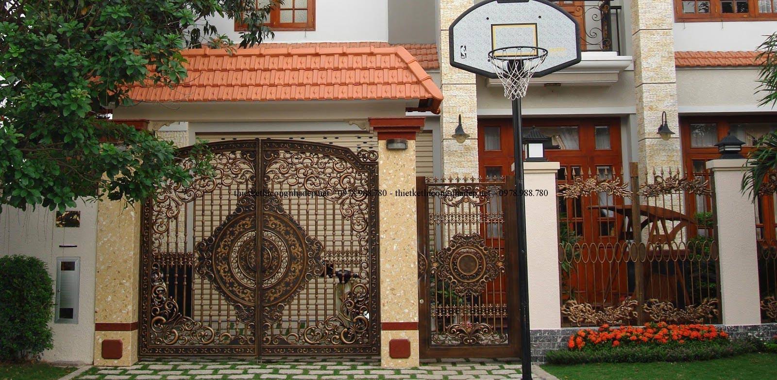 Cổng nhà biệt thự đẹp