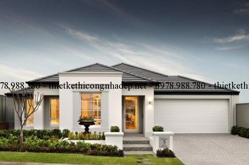 Thiết kế nội thất biệt thự hiện đại đẹp 10x22m