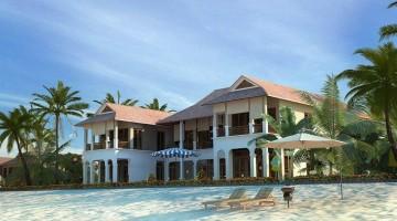 Mẫu biệt thự nhà vườn ven biển đẹp hiện đại