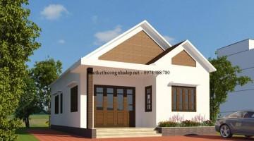 Mẫu thiết kế nhà cấp 4 đẹp mái thái tại Đắk Lắk