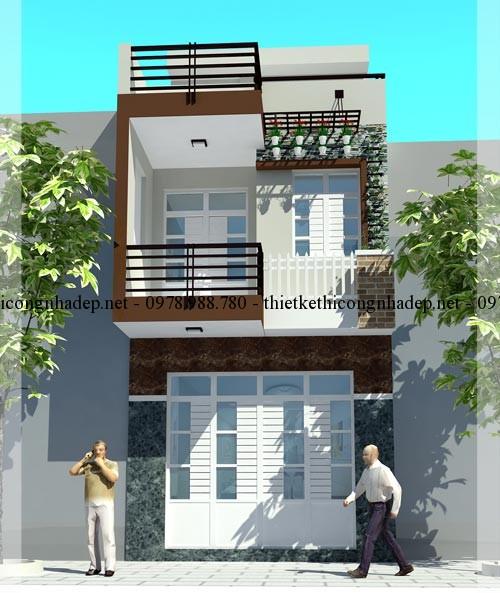 Phối cảnh nhà phố 12x17m