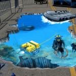 Các mẫu vẽ tranh 3D đường phố đầy nghệ thuật