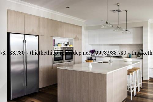 Phòng bếp biệt thự vườn 11x22m