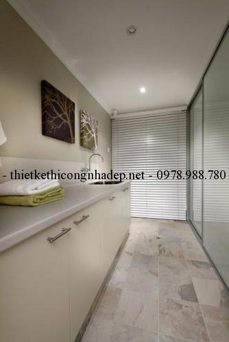 Phòng giặt đồ biệt thự vườn 12x26m