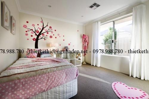 Phòng ngủ 1 biệt thự vườn 12x26m