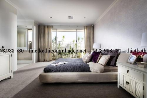 Phòng ngủ biệt thự vườn 11x22m