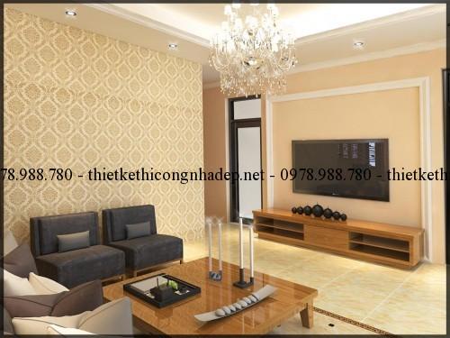 Bàn trà sofa biệt thự 14x14.5m