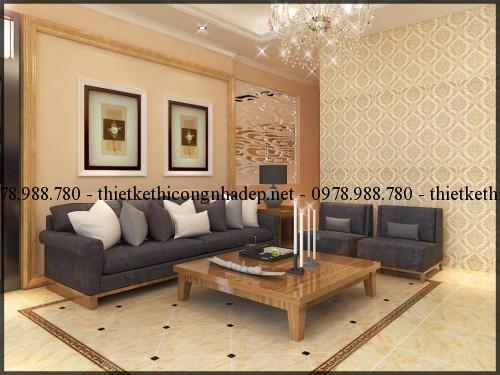 Nội thất phòng khách biệt thự 14x14.5m