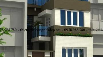 Tư vấn thiết kế nhà 2.5 tầng 450 triệu diện tích 6x8m