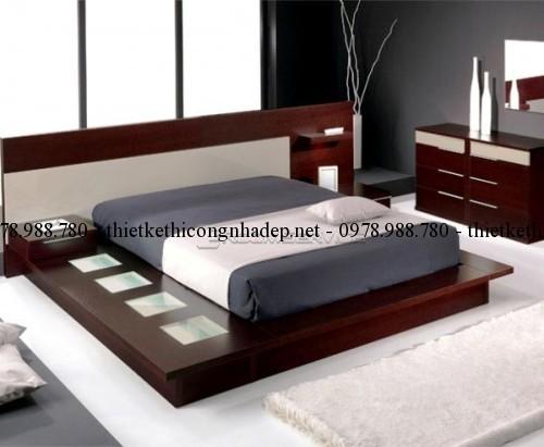 Mẫu giường ngủ gỗ số 31