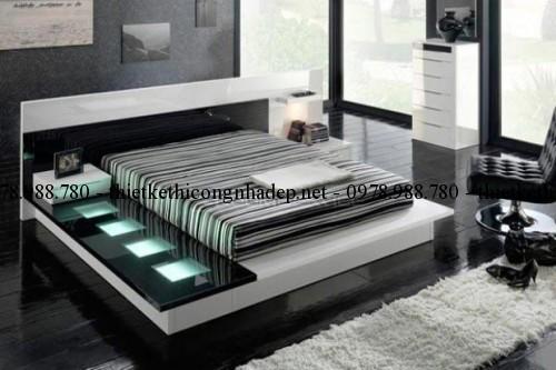 Mẫu giường ngủ gỗ số 32