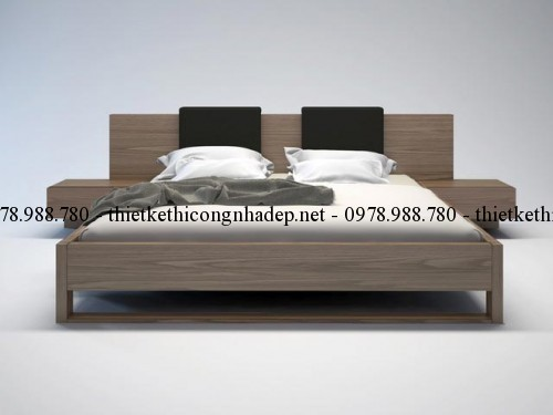 Mẫu giường ngủ gỗ số 38