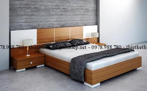 Mẫu giường ngủ gỗ số 39