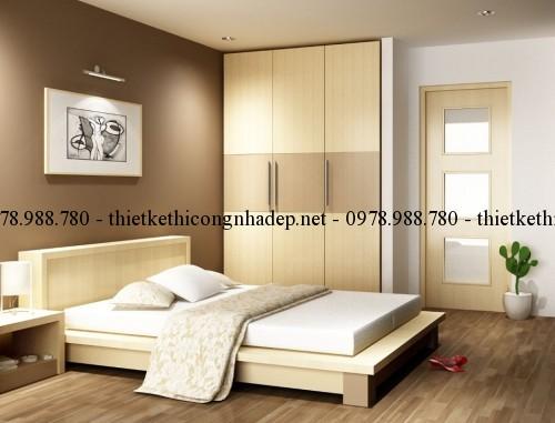 Nội thất phòng ngủ 1 nhà cấp 4 11.5x11.5m