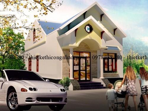 Bản vẽ thiết kế nhà cấp 4 mái thái 7x18m tại Tây Ninh