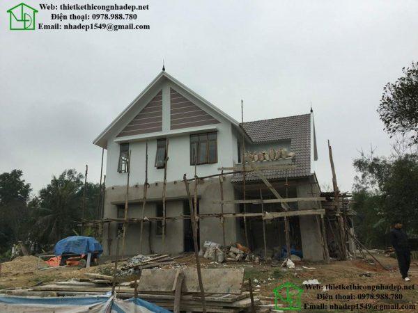 Biệt thự 2 tầng mái thái 8x11m tại Nghệ An