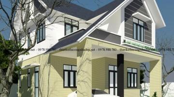 Mẫu thiết kế biệt thự 2 tầng mái thái tại Nghệ An 8x11m