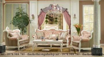 Mẫu bàn ghế sofa tân cổ điển Châu Âu giá rẻ
