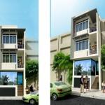 Mẫu thiết kế nhà phố 4x18m 4 tầng 800 triệu tại Đà Nẵng
