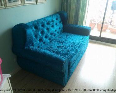 Mặt bên sofa giường