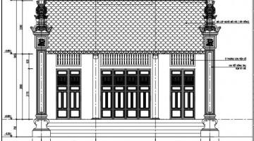 Mẫu bản vẽ thiết kế nhà thờ họ tại Nghệ An