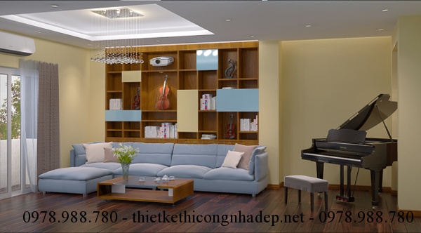 Màu sắc chủ đạo của thiết kế nội thất theo phong cách hiện đại đó là những màu sáng
