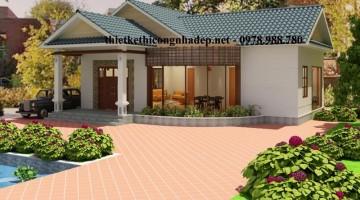 Mẫu thiết kế nhà biệt thự 1 tầng đẹp tại Bình Phước