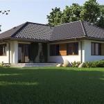 Thiết kế biệt thự mini 100m2 đẹp mái thái hiện đại