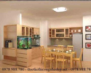 Một số chú ý trong thiết kế nội thất phòng bếp chung cư.