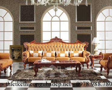 Cách chọn ghế sofa phòng khách tân cổ điển.
