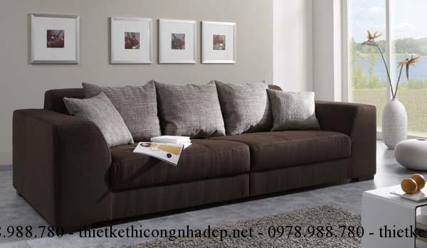 Nên chọn vị trí đặt ghế sofa dựa vào tường có thể nhìn thấy phong cảnh bên ngoài
