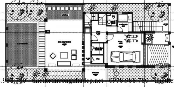 Tầng hầm biệt thự 3 tầng 8x15m