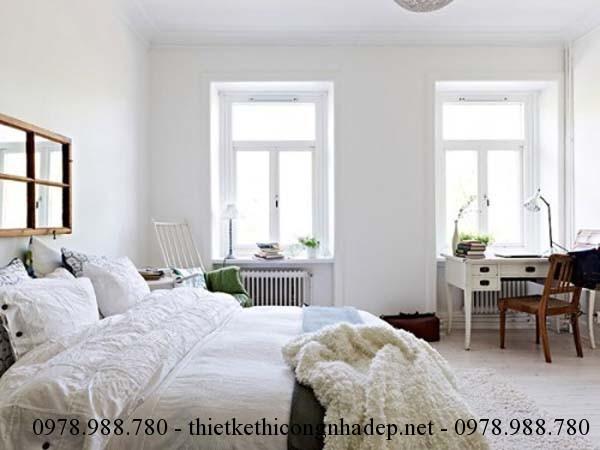 Thiết kế nội thất đơn giản với phòng ngủ tinh tế và thư giãn