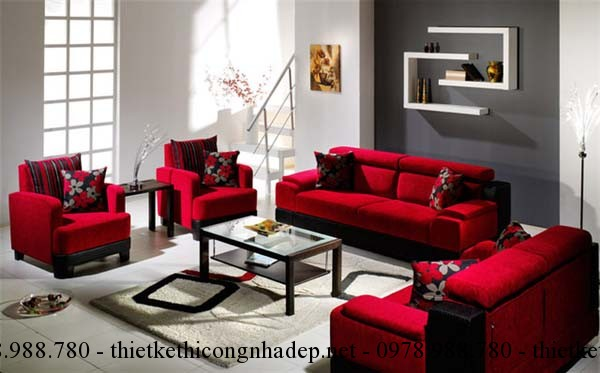 Tư vấn cách chọn vải bọc ghế sofa phòng khách.