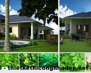 Thiết kế nội thất biệt thự nhà vườn kiểu mẫu