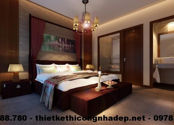 Hình minh họa phòng ngủ người cao tuổi, sàn nhà trải thảm để tránh trơn trượt
