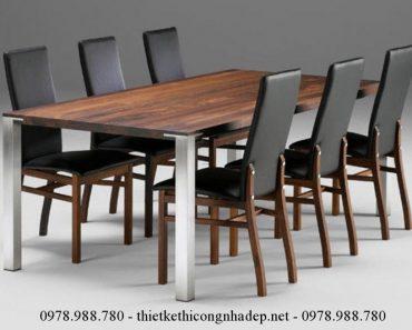Mẫu bàn ghế ăn bọc nệm số 1
