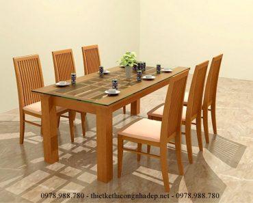 Mẫu bàn ghế ăn bọc nệm số 5