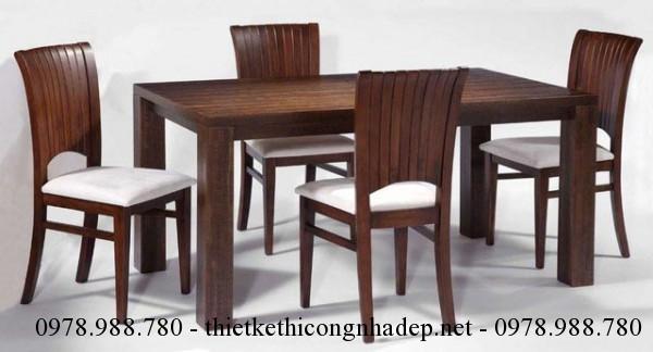 Mẫu bàn ghế ăn bọc nệm số 6