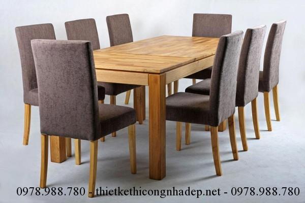 Mẫu bàn ghế ăn bọc nệm số 7