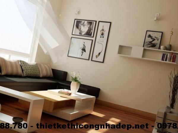 phòng khách sử dụng ánh sáng của thiên nhiên