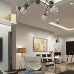 Thiết kế nội thất phòng khách đẹp chung cư ở Times City