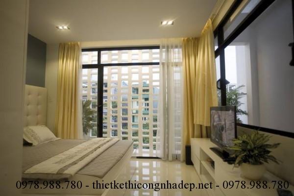 Phòng ngủ nhà phố 5x12m