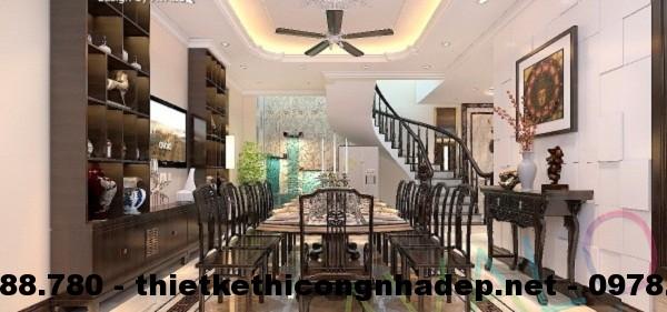 Thiết kế nội thất đều sử dụng chất liệu gỗ tự nhiên