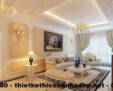 Thiết kế nội thất chung cư phong cách tân cổ điển.