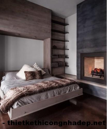 Thiết kế nội thất phòng ngủ mộc mạc với chất liệu gỗ