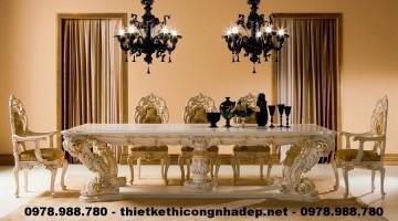 Các mẫu bàn ghế ăn cổ điển Châu Âu